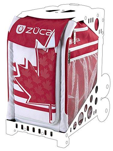 Zuca Eislaufen (Zuca Maple Leaf Sport Tasche (weiß und rot), nur einfügen–89055900438)