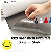 Neu 0,75mm!! Eisenfolie - Ferrofolie 500mm x 620mm x 0,75mm selbstklebend - Noch mehr Haftgrund für Magnete - Magnetfolie