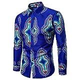 BaZhaHei Mode Männer Fashion Printed Bluse beiläufige Lange Hülsen-dünne Hemd-Oberseiten Männer Berühmte Familie Blumen Lange Ärmel Hemd