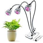 3-Cabezas LED Lámpara Crecimie...