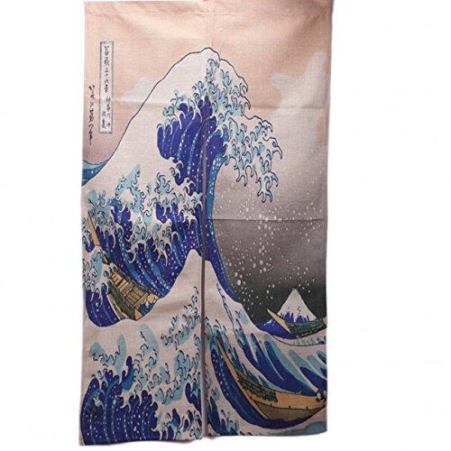 NOREN JAPONAIS - Motif TRADITIONNEL - La Vague d'Hokusai