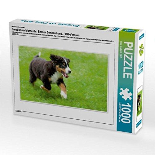 Ein Motiv aus dem Kalender Emotionale Momente: Berner Sennenhund. / CH-Version 1000 Teile Puzzle quer