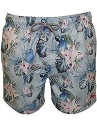 Ted Baker Loros Y Natación Pantalones Cortos Hawaiano Florales Masculino, Luz Azul