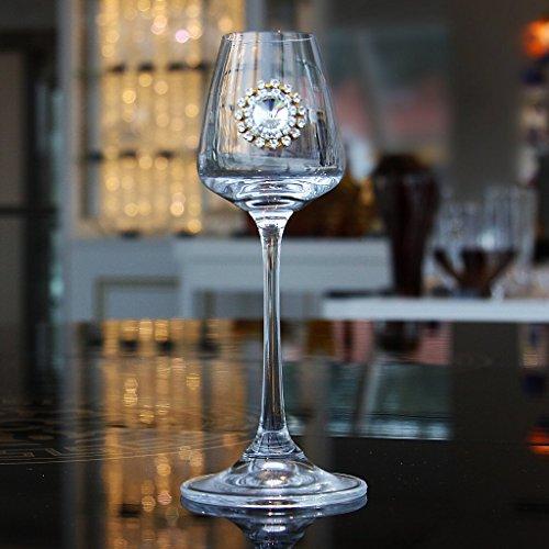 Grappakelch, Obstlerglas, Schnapsglas NAOMI 60ml, transparent, mit funkelnden Steinchen besetzt, moderner zeitloser Style (GERMAN CRYSTAL powered by CRISTALICA)