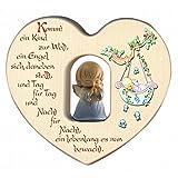 Herz für Jungen mit Schutzengel zur Geburt/Dekoration/Kinderzimmer/aus Holz