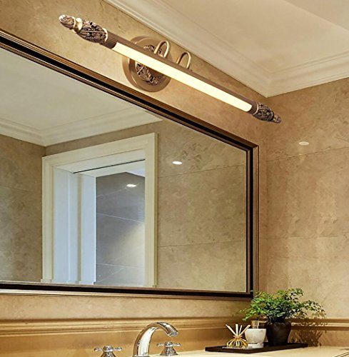 Spiegel Scheinwerfer American Spiegel Scheinwerfer Badezimmer Toiletten Badezimmer Kommode Voll Kupfer Spiegel Schrank Lampe Continental Wandbild Illumination Lampe Spiegellampen ( größe : 75cm )