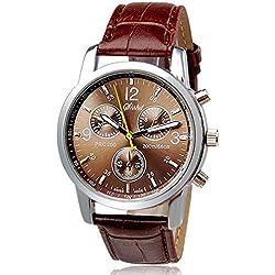 Sunnywill Neue Luxus Mode Krokodil Kunstleder analoge Uhren für Herren