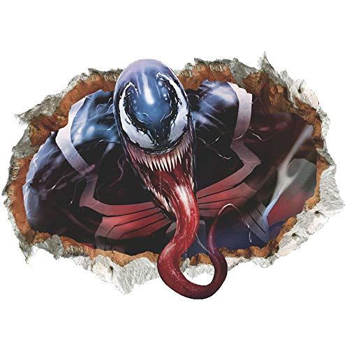JUNMAONO Venom Pegatina De Pared/PVC Póster De Pared/Mural/Decoración Vinilo Calcomanías Etiqueta/Mural De Pintura/Etiqueta Engomada/Papel Pintado/Empapelado/Periódico De Pared (4)