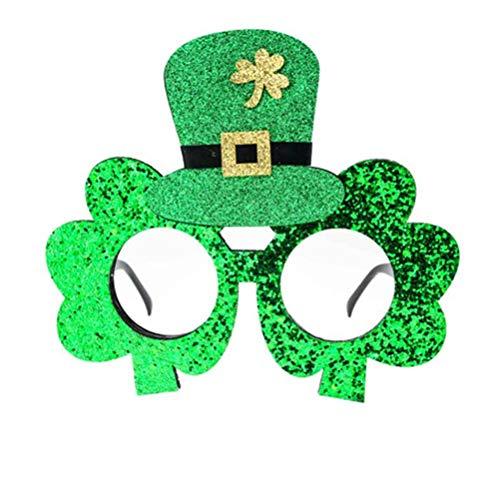 BESTOYARD St. Patrick Green Klee Hut Brille Makeup Brillen Maskerade Cosplay Party Kostüme Zubehör