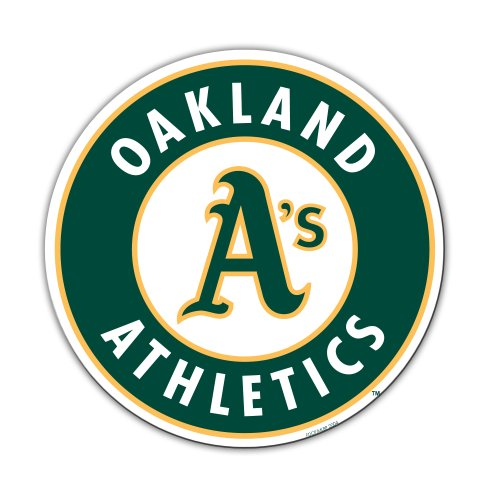 MLB Oakland Athletics 12-Inch Vinyl Logo Magnet by Fremont Die -