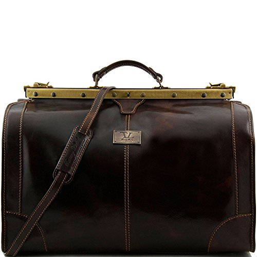 Tuscany Leather - Madrid - Sac de voyage en cuir - Grand modèle Miel - TL1022/3 Marron foncé