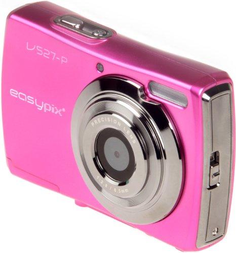 Easypix V527 Candy Digitalkamera (5 Megapixel, 8-fach digital Zoom, 6,9 cm (2,7 Zoll) Display) pink