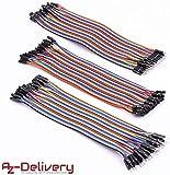 AZDelivery  Jumper Wire Kabel 3 x 40 STK. je 20 cm M2M/ F2M / F2F für Arduino und Raspberry Pi...