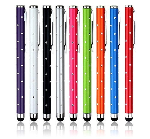 9-Pack Bling Stylus Touch Screen Handy Tablet Pen für iPhone 5 5S 5C 4 4S 3G 3GS iPod Touch iPad 2 3 4 Luft Sony Playstation PSP PS VITA Motorola Xoom, Samsung Galaxy, Blackberry Playbook AMM0101US, Barnes and Noble Nook Color, Droid Bionic Iphone 3g Screen