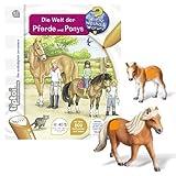 Ravensburger tiptoi® 3-teiliges Set Wieso? Weshalb? Warum? Die Welt der Pferde und Ponys + Tierfigur Falabella Stute + Tierfigur Falabella Fohlen