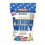 Weider Premium Whey Proteinpulver, Low Carb Proteinshakes mit Whey Protein Isolat, Erdbeer-Vanille, (1x 500g)