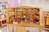 BioKinder 23456 Robin Tischkaufladen und Kasperletheater aus Massivholz Erle