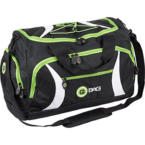 QBag Heck-/Sporttasche 40 Liter Stauraum Schwarz/Grün (Groß Natürliche Liter 40)