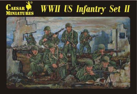 Guerra soldati dell'esercito USA, Set da 2, 1/72 plastica di soldati Caesar Miniatures