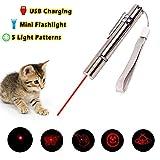 5in1aggiornato Cat CHASER Toy, Pawaca InterActive Cat Toys intrattenere il Pets training Tool, ricaricabile tramite USB, corpo in acciaio INOX, portatile