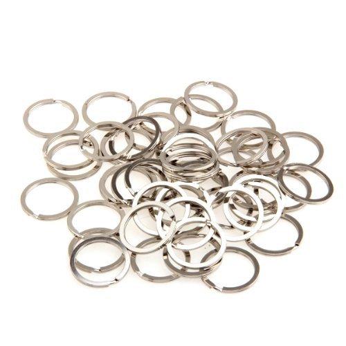 Anello Portachiave Anelli Portachiave acciaio anelli porta chiavi 100 pz