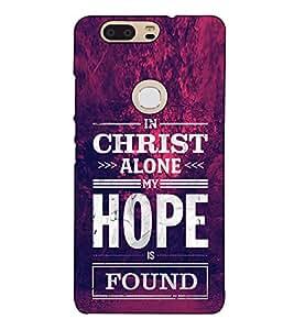 Fuson Designer Back Case Cover for Huawei Honor V8 (In Christ Alone)