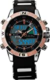 Shark SH045 - Orologio Sportivo Da Polso Uomo, Cinturino in Gomma Nero, LCD Digitale Display Analogico Al Quarzo