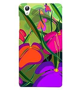 Colourful Flowers 3D Hard Polycarbonate Designer Back Case Cover for vivo Y51 :: VivoY51L