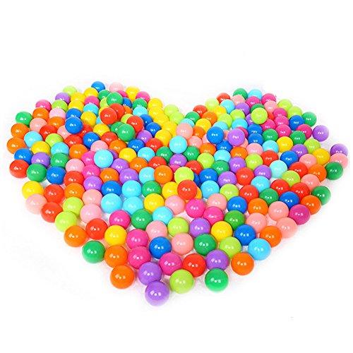 Manyo 100 Stück, Kinder Meeresbälle,Bunter Spaß-Ball, Weicher Plastik Ozean Ball, Baby Kid Spielzeug, Schwimmbecken Spielzeug