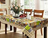 #7: Kuber Industries™ Waterproof Dining Table Cover 6 Seater 60*90 Inches (Multi Color Checkered Design)