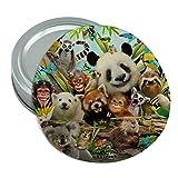 Animal Buddies Selfie Panda Eisbär Faultier Lemur rutschfeste Toucan rund Gummi Greifer Deckel Glasöffner