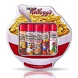 Tazón de cereales de Kellogg Retro de los años 70 en forma de bálsamos de estaño y 5