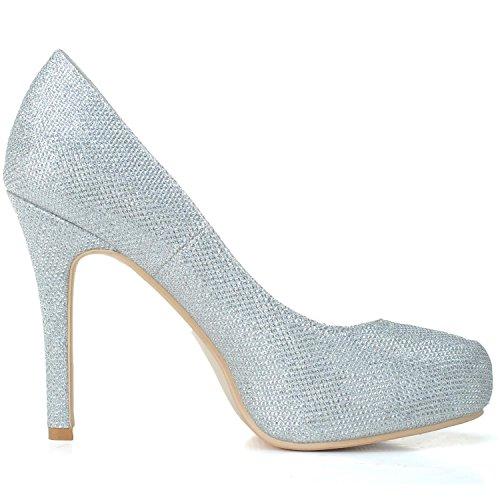 Hauts Flash PU Mariage black à 6915 YC Pour Chaussures 03 L De P Talons Femmes Chaussures Flash Platform tq7nZwa