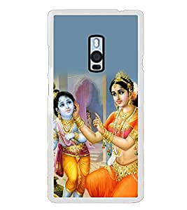 Fiobs Designer Back Case Cover for OnePlus 2 :: OnePlus Two :: One Plus 2 (Krishna Bal Mother God Naughty)