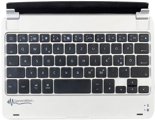 GeneralKeys iPad Tastatur: Aluschutzcover inkl. Tastatur mit Bluetooth, 7,9