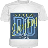 100ANB - (1 - 10C) SUCCESS is to DO Everything YOU CAN - MEMES HUMOR QUOTES GIFT BIRTHDAY - GRAPHIC PRINTED DRIFIT DRYFIT MICRO POLYESTER ROUND NECK T