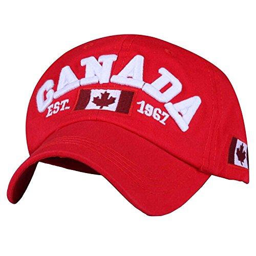 Preisvergleich Produktbild shtseresj Canada Flag Canadian Maple Leaf Adult Sport Adjustable Baseball Cap Cowboy Hat