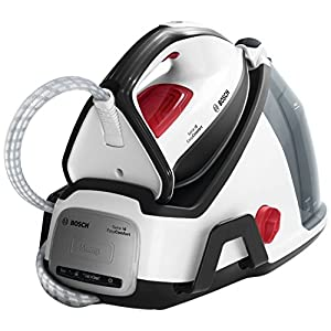 Bosch Serie 6 EasyComfort TDS6040 Dampfstation (2400 W, 380 g Tiefendampf, Abschaltautomatik, i-Temp, 5, 8 bar) weiß/schwarz