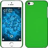 PhoneNatic Custodia Rigida per Apple iPhone 5/5s/SE - gommata verde - Cover pellicola protettiva