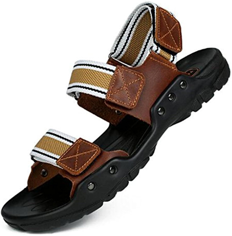 Sandalias - Sandalias Cómodas de Cuero de Verano para Hombres Sandalias y Pantuflas de Playa Populares Respirables
