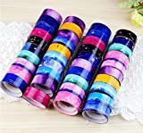 RICISUNG 10pcs Mini tape creative dividing line and paper tape hand account diy border separate lines fine paper tape for Scrapbooking/Craft(color and style sent randomly)