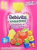 Bebivita Kinder-Spaß; Erdbeere in Apfel-Birne, 4er Pack (4 x 90 g)