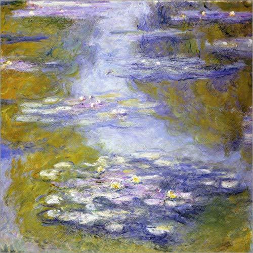Lienzo 20 x 20 cm: waterlilies de Claude Monet/ARTOTHEK - Cuadro Terminado, Cuadro sobre Bastidor, lámina terminada sobre Lienzo auténtico, impresión en Lienzo