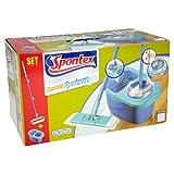 Spontex Express System - Mikrofaser Bodenwischer Komplett-Set mit Eimer und Rotationswringer für schnelle. komfortable Bodenreinigung. 1er Pack