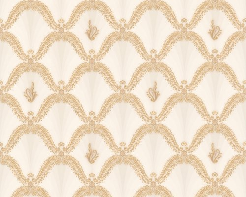 A.S. Creation 891051 Mustertapete Hermitage 8, beige/metallic