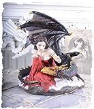 Fantasy Figur Elfe & Drache Gothic Magie original von Veronese PALAZZO EXCLUSIV