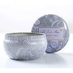 Velas cilíndricas perfumadas para aromaterapia, Aceite Esencial de Loto Azul, Cera de Soja Natural, Velas del Regalo 35 horas
