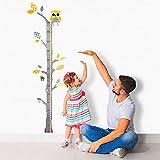 Brunoko Medidor de altura de pared para niños - Vinilos medidores infantiles con forma de...