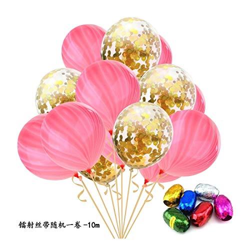 ZSQQSCL Jahr Weihnachten Ballon Transparenten Pailletten Konfetti Ballons Home Party Szene Festliche Atmosphäre Dekorative Luftballons, D