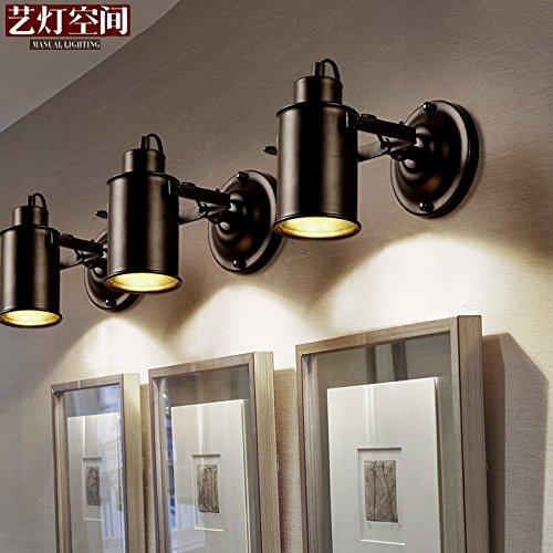BESPD Retro Korridor Cafe Wandleuchten am Bett, 5 W LED-Strahl warmes Licht Lampe